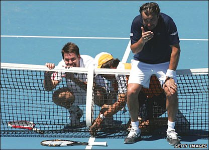 Henri Leconte (right)