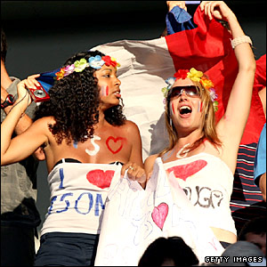 Fans of Jo-Wilfried Tsonga