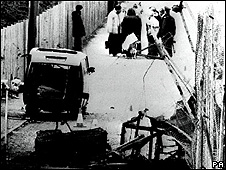 The aftermath of the Loughgall massacre