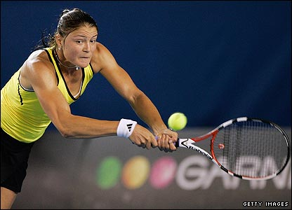 Third seed Dinara Safina hits a return to Jelena Dokic