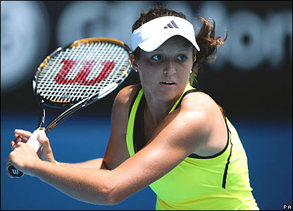 Laura Robson in action in the Australian Open girls' final