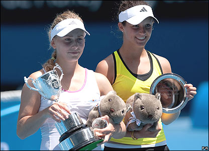 Ksenia Pervak (left) and Laura Robson