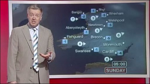 Derek Brockway is the main weather forecaster for BBC Wales