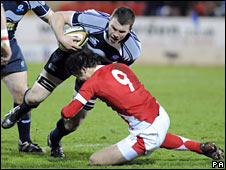 Stuart McInally and Rhys Downes