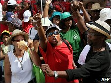 Protest in Fort-de-France, Martinique