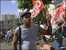 Union supporter in Guadeloupe