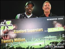 Cricketer Chris Gayle and Sir Allen Stanford (01/11/08)