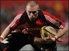 Keith Earls was among Munster's try-scorers