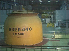 Interior of Kozloduy nuclear plant