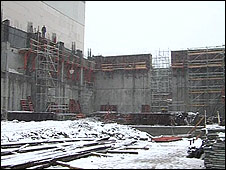 Building work at Kozloduy nuclear plant
