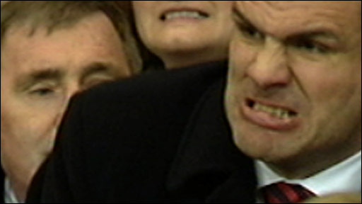 Martin Johnson reacts to Danny Care's sin-binning