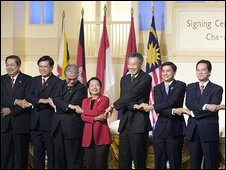 Some of the Asean members at the summit