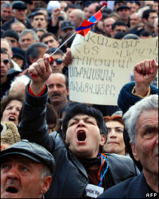 Opposition rally in Yerevan (1 March 2009)