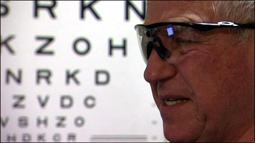 Blind patient Ron explains how being fitted with a 'bionic eye' has changed his life.