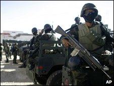 Mexican troops in Ciudad Juarez Mar 2009