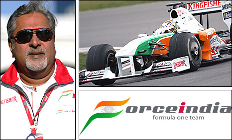 Force India owner and team boss Vijay Mallya