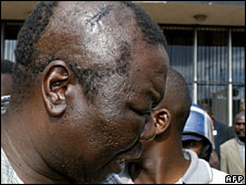 Morgan Tsvangirai after being beatn in 2007