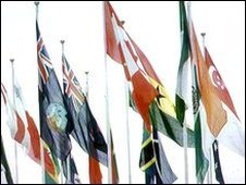 Commonwealth flags, file pic