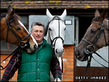 Paul Nicholls with his Gold Cup hopes