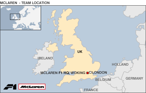 Map of McLaren HQ