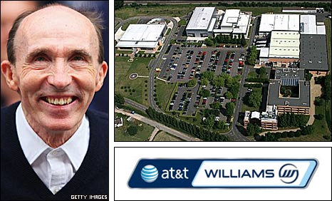 Team principal Frank Williams and Williams HQ