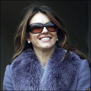 Liz Hurley at Cheltenham