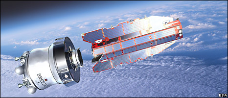 GOCE artist's impression (Esa)