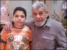 Abdu al-Gindi and his grandson