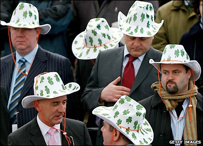 Irish punters at the Cheltenham Festival