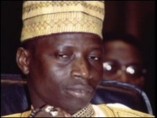 Gambian President Yahya Jammeh, file pic from 1997