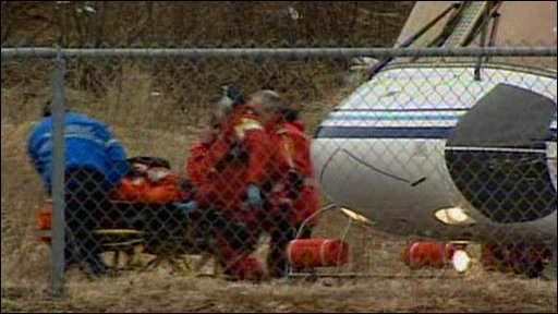Rescued helicopter passenger