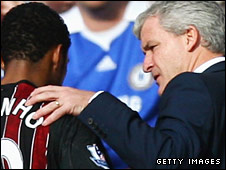 Mark Hughes with Robinho
