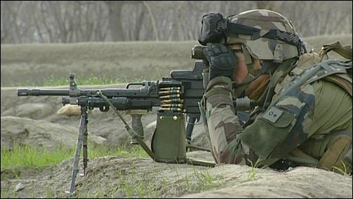 French solider in Afghanistan