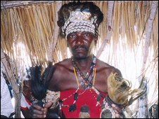 Witch doctor in Mozambique (file pic)