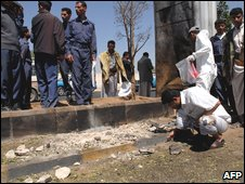 Forensic inspection of bombing site
