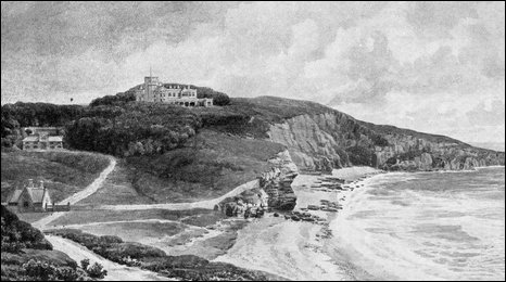 Dunraven Castle as portrayed in a book by Earl of Dunraven, published in 1926