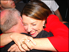 Queensland Premier Anna Bligh during her victory speech in Brisbane, Australia, on 21 March 2009 