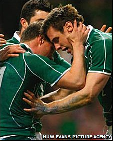 Ireland celebrate in Cardiff as they win the Grand Slam