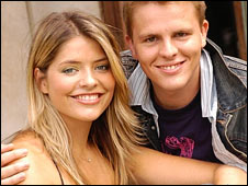 Holly Willoughby and Jake Humphrey in CBBC at the Fame Academy