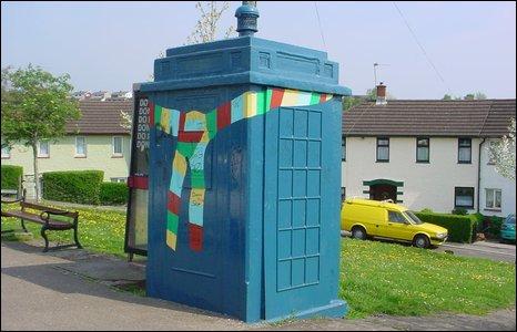 Real-life Tardis in Chepstow Road, Newport