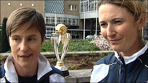 Claire Connor and Charlotte Edwards