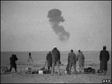 French nuclear test during the 1960s near Raggane in the Algerian Sahara