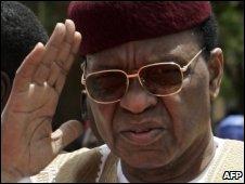 Niger's President Mamadou Tandja