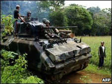 Soldiers in a tank, file image