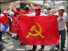 Supporters of the NPA in Manila, 26/03/09