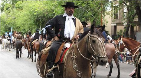 Gaucho leading the parade