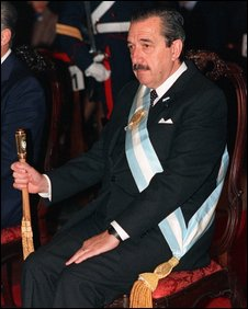 Argentinian President Raul Alfonsin in office, May 1989