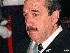 Former president of Argentina Raul Alfonsin