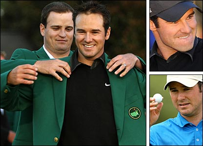 Trevor Immelman was handed the Green Jacket by 2007 Masters winner Zach Johnson