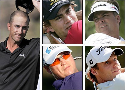 Clockwise from left: Geoff Ogilvy, Zach Johnson, Kenny Perry, Nick Watney, Camilo Villegas.